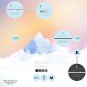 Fotografie Mountains infographic - Vector Illustration