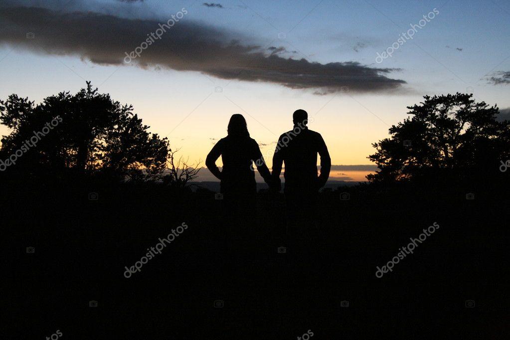 Silhouette Liebespaar