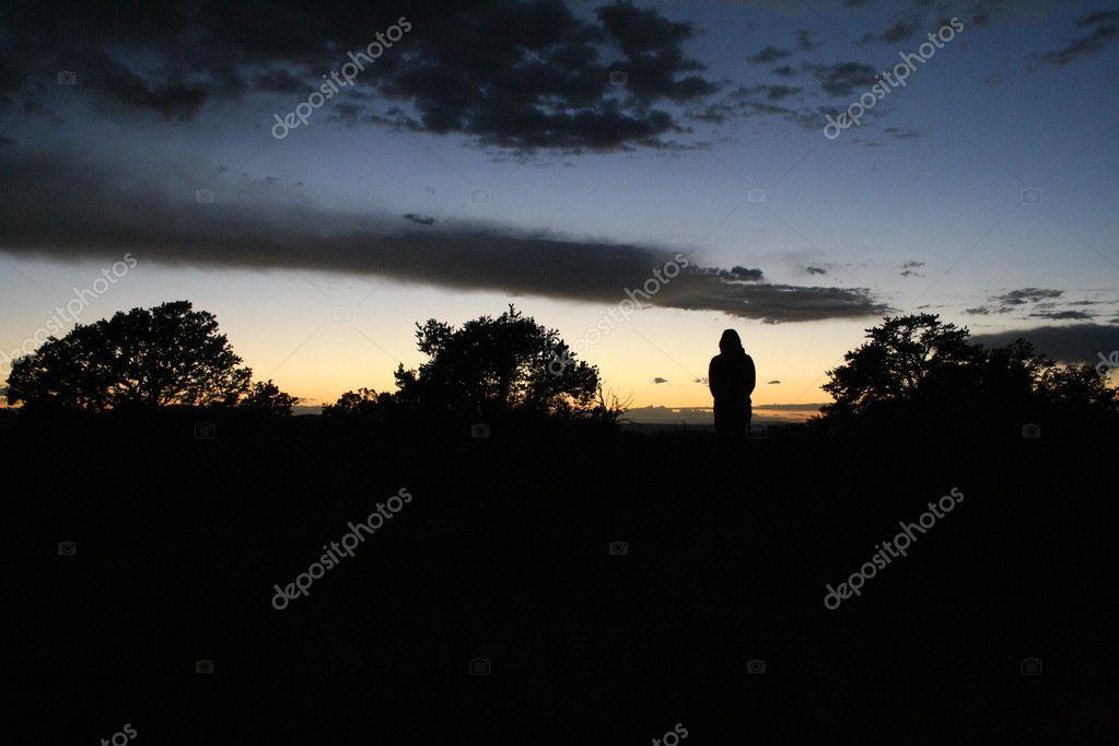 Sonnenuntergang Silhouette