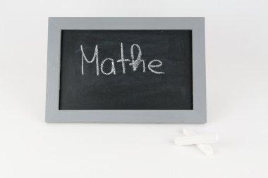 Tafel Mathe mit Kreide