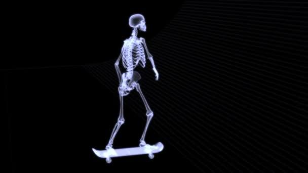 radiografia a raggi x del corpo umano (scheletro)