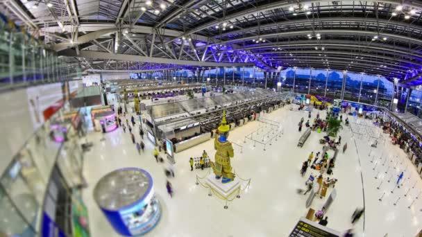 letiště cestující čas zanikla Bangkoku fisheye