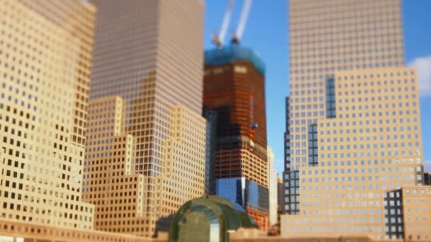finanční čtvrti New york city