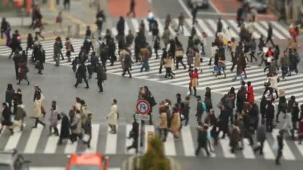 Zaneprázdněný Shibuya přechod pro chodce lidí