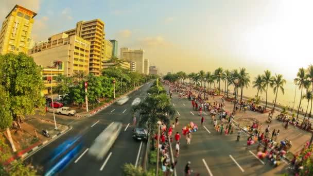 Város gyalogos forgalom idő telik el