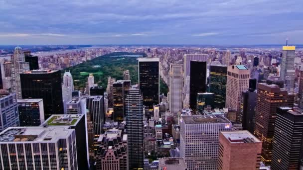 Upper Manhattan durante il tramonto