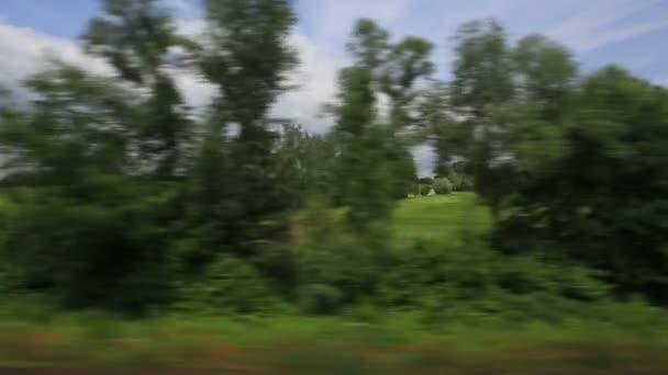 Osobní vlak krajiny z Polska