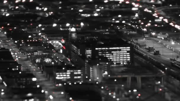 Seattle městský provoz v noci