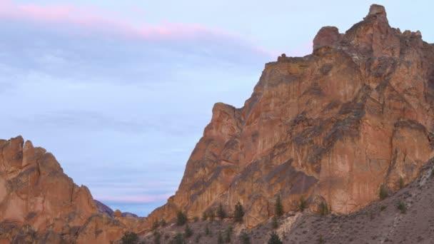 Smith Rocks during sunset.