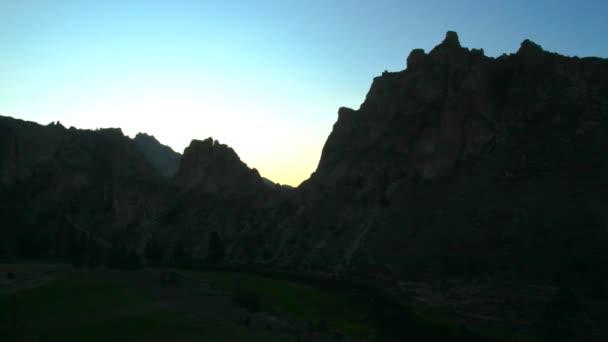 Smith Rocks during sunrise.