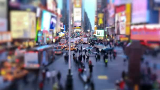 Busy city traffic  of Times Square