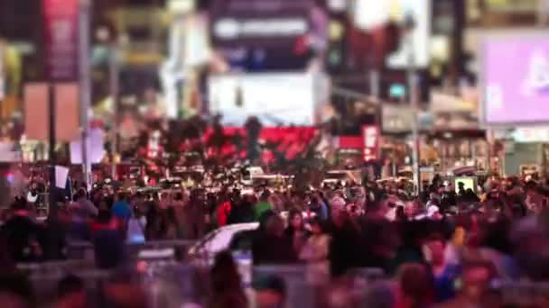 City pedestrian traffic of Times Square area.