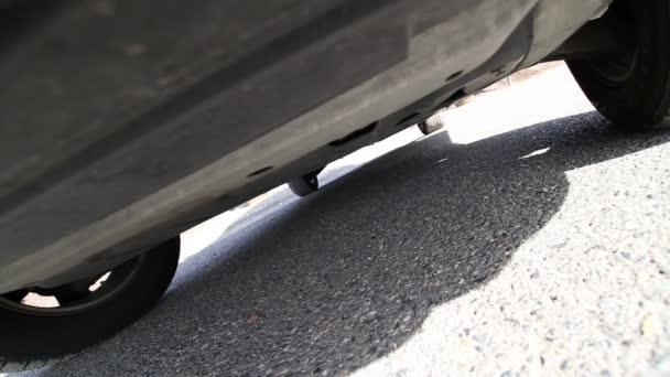 Shot underneath car.