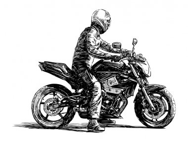 Urban biker stock vector
