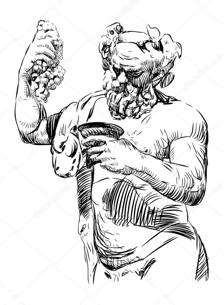 Dionysus — Stock Vector © alekseimakarov #47151649  Dionysus Drawing