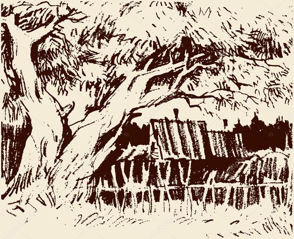 Country sketch