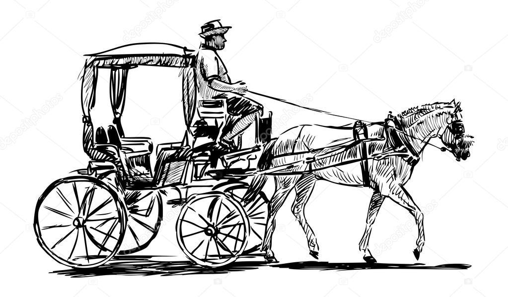 Kleurplaat Paard En Koets Cal 232 Che Image Vectorielle Alekseimakarov 169 47157019