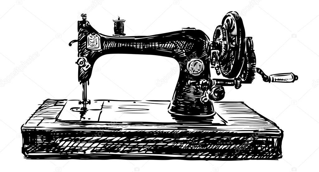 Old Sewing Machine Stock Vector © Alekseimakarov 40 Impressive Old Sewing Machine
