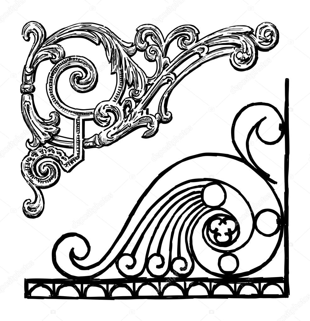 Ornamental corners — Stock Vector © alekseimakarov #47160121