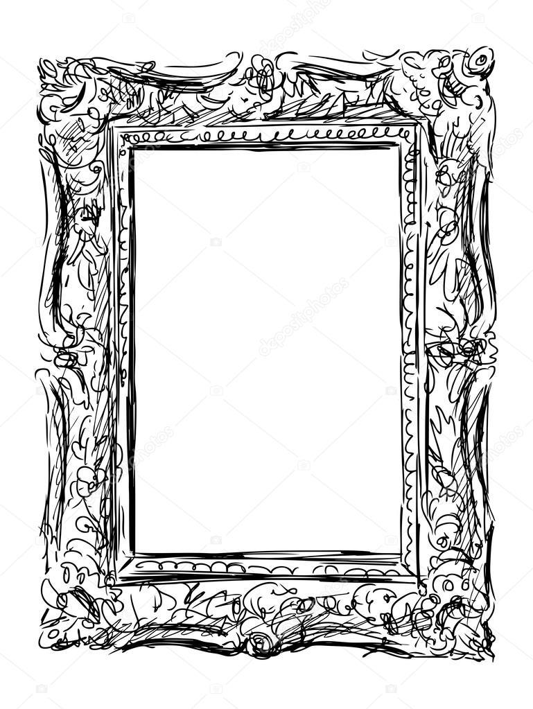 alte verzierte Rahmen — Stockvektor © alekseimakarov #47162649