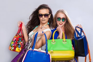 Women with handbags