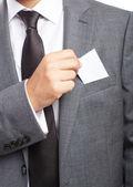 üzleti ember kitárolási névjegykártya
