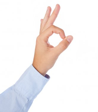 Hand doing ok symbol