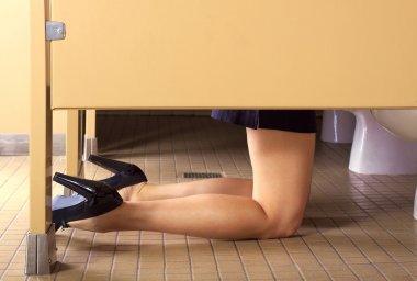 Sick in Public Bathroom