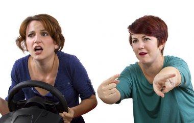 Annoying female passenger