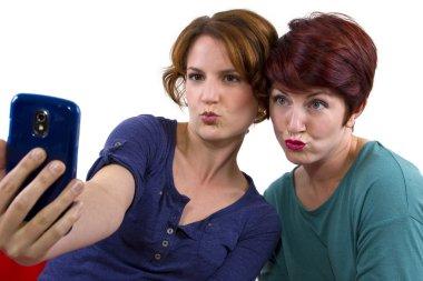 Women taking self portraits