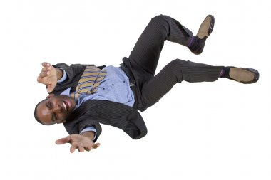 Falling businessman