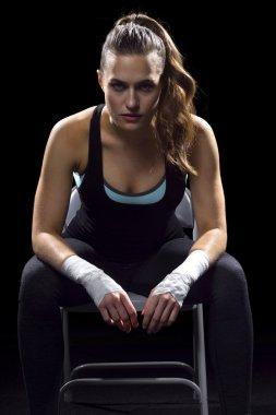 Female MMA fighter