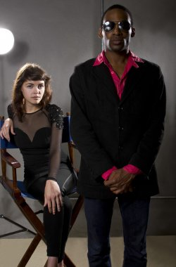 Bodyguard protecting actress or pop star