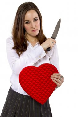 Ex-girlfriend with a heart and knife
