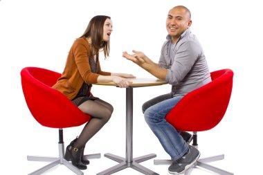 Rude couple on bad date