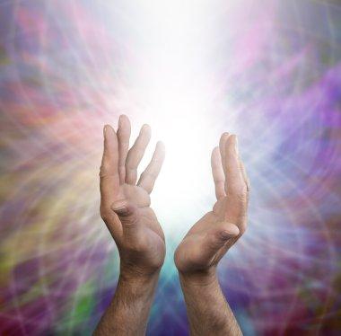 Male healing energy and rainbow matrix