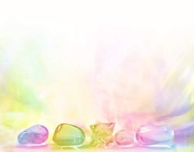 Rainbow Crystal Background