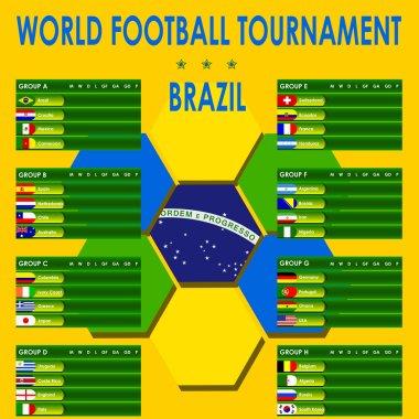 World football tournament Brazil info graphics