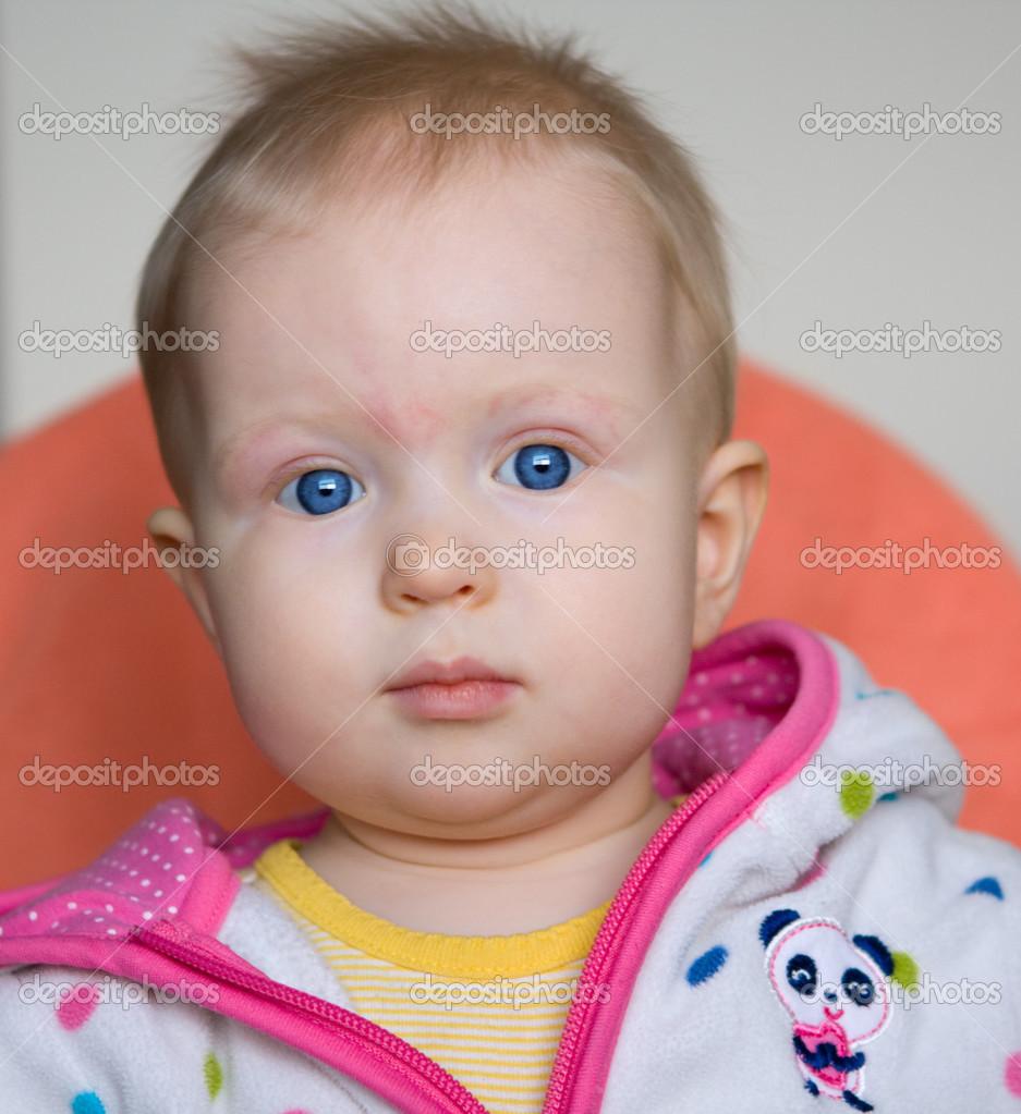 cute baby girl with blue eyes — stock photo © anoushkatoronto #48443993