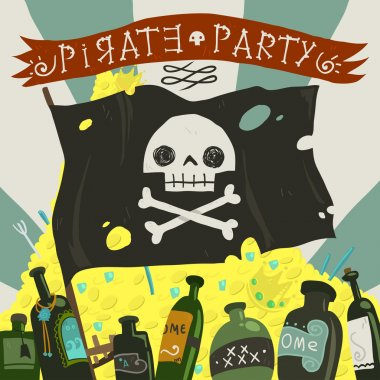 Pirate party card.
