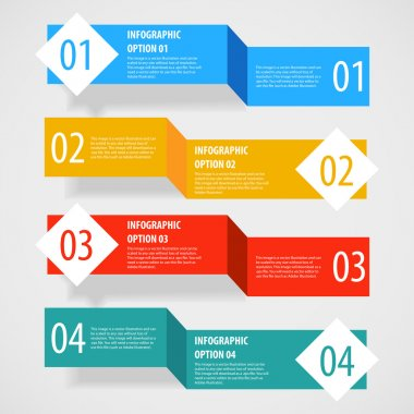 Simple abstract modern infographics options banner.