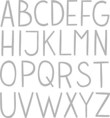 Hand draw vector full alphabet.