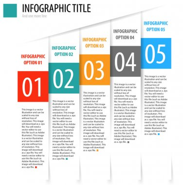 Infographic options banner.