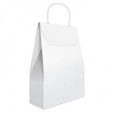 White Cardboard Carry Box Bag Packaging With Handles For Food, Gift