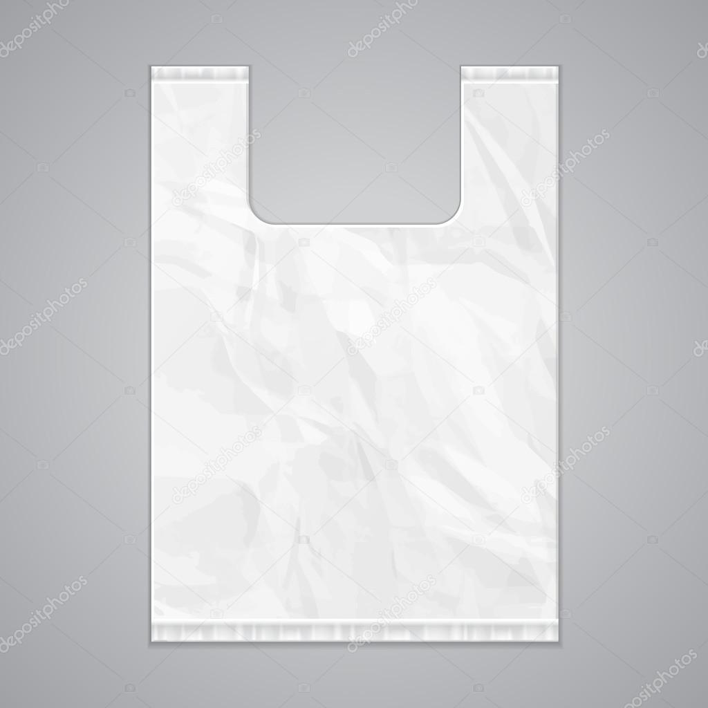 Disposable Plastic Bag Package Grayscale Template — Stock ...