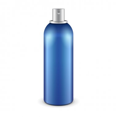 Blue Aerosol Spray Metal 3D Bottle Can: Paint