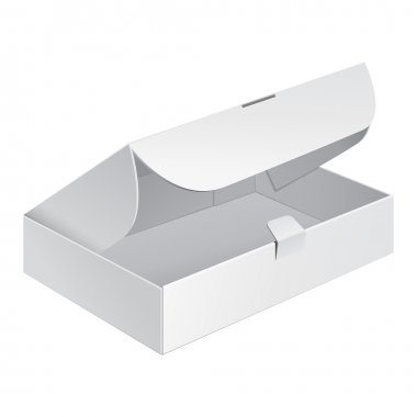 Opened White Product Cardboard, Carton Package Box