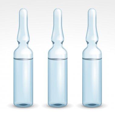 Medical Blue Transparent Glass Ampoules