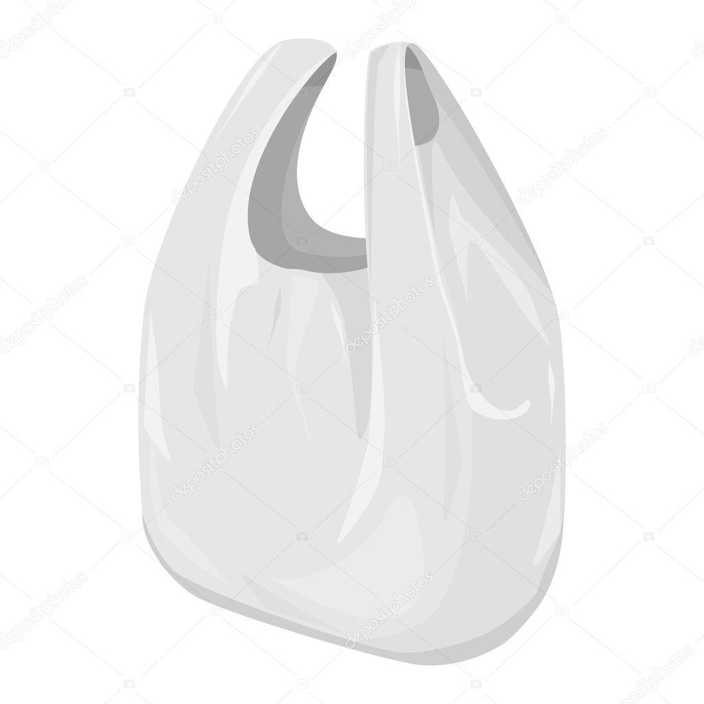 целлофановый пакет на прозрачном фоне
