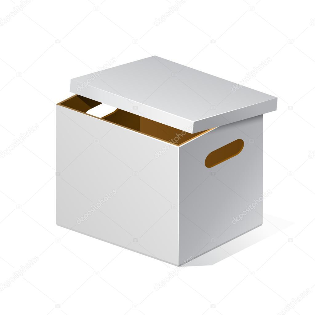 Wit Karton, Bruin Binnen Kartonnen Pakket Doos Open